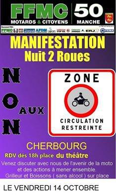 Nuit 2 roues à CHERBOURG, le 14 octobre de 18h à minuit.