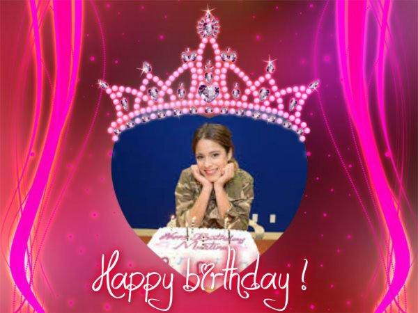 Joyeux anniversaire Mélissa ♥♥