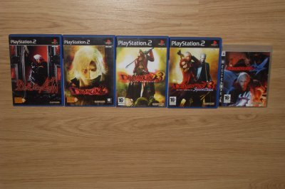 Ma collection de jeux Devil May cry