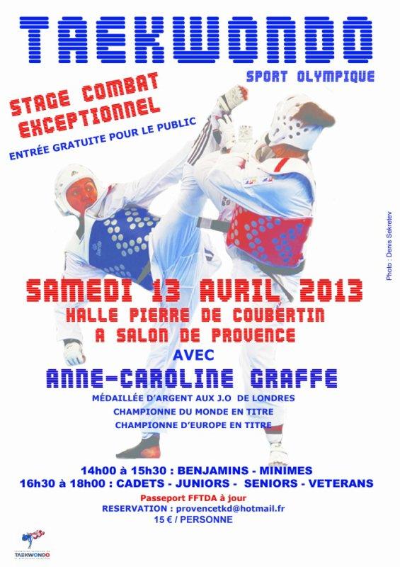 Stage combat exceptionnel avec Anne Caroline GRAFFE