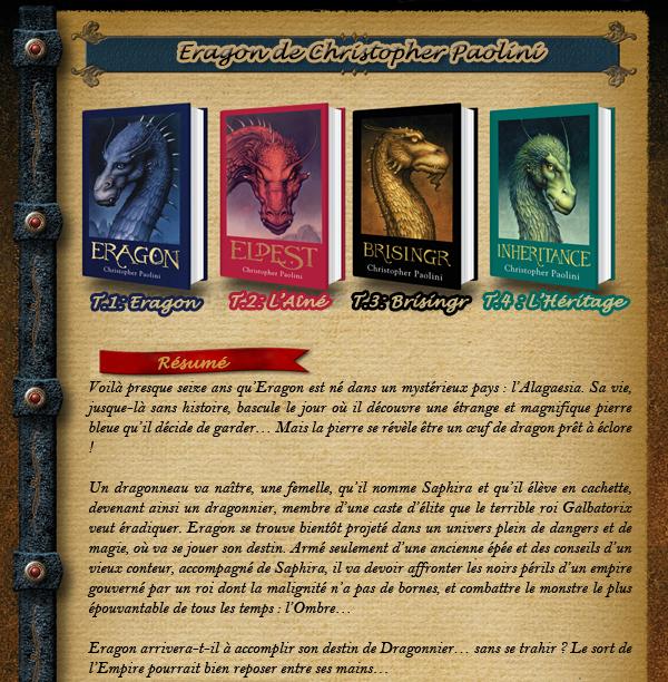 La saga de l'Héritage de Christopher Paolini