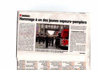 DERNIER HOMMAGE AU SAPEUR DECEDE MARDI 9/8/11 LORS ACCIDENT DE CIRCULATION