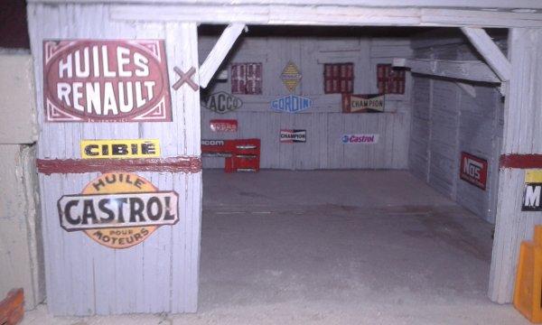 diorama la casse la dalle du hangar est faite