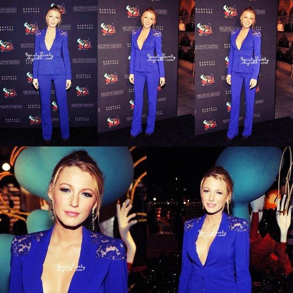 21/11 Blake s'est rendue chez Barneys à New York pour l'évènement Lunch of Gaga's Workshop . Pour moi se sera un TOP j'aime beaucoup sa tenue!