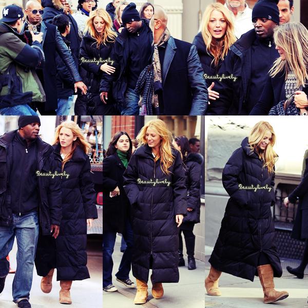 31/01/12 Blake a été aperçu sur le tournage de Gossip Girl.