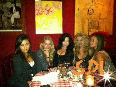 Le 4 Mars 2011, Demi, rayonnante, accompagnée de Leven Rambin , sortait de Dan Tana's , le restaurant où elles ont été dîner plus tôt , dans la soirée .
