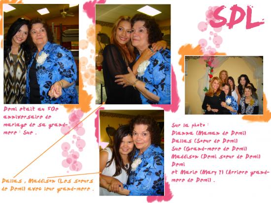 Photos de Demi et sa famille prisent lors du 50e anniversaire de mariage de ses grands-parents .