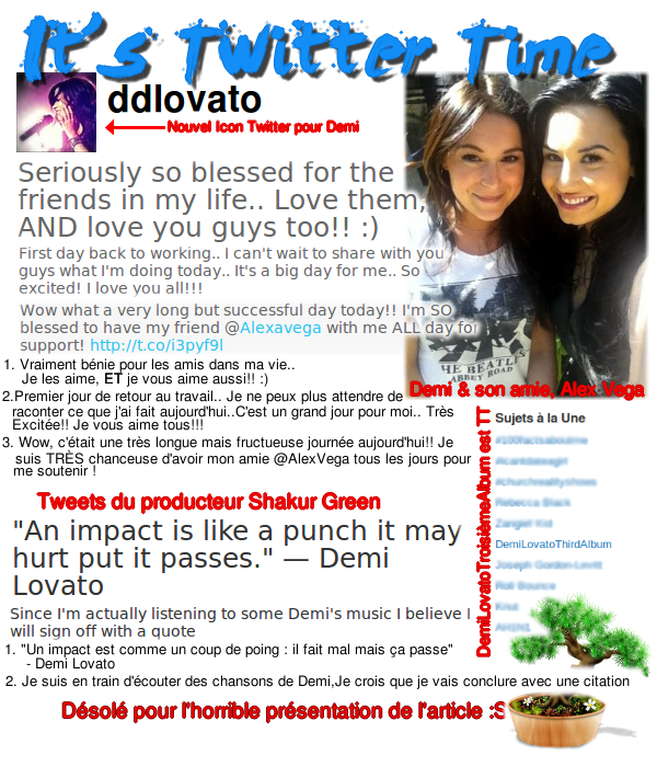 Demi get back to work !!