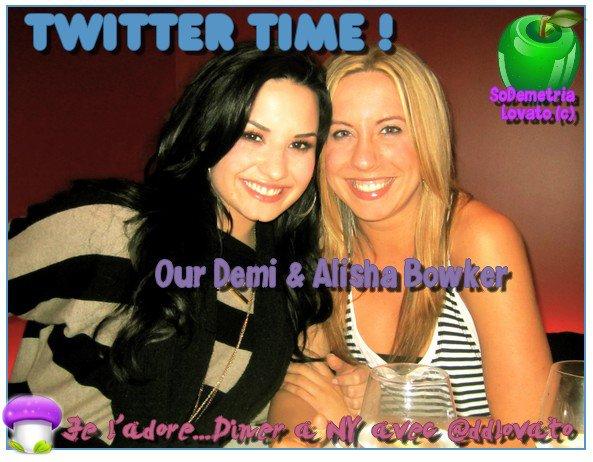 Demi & Alisha Bowker ont dînné au restaurant, à New-York, il y a deux jours