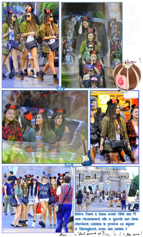 Demi a Disneyland ..