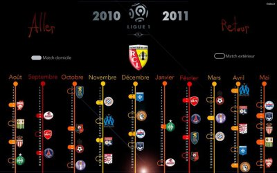 calendrier de lens 2010/2011