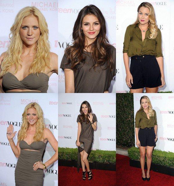 Brittany Snow , Victoria Justice , Lauren Conrad était présente pour Teen Vogue Young Hollywood Party Vendredi (le 1er Octobre). Laquelle est la Plus Raviissante.Moi J'adore le Style Fashion de Lauren Conrad.