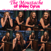 "MILEY AND HER MOUSTACHE !! Miley Cyrus a l'émisson ""Late Night with Jimmy Fallon"" à New York le jeudi (Mars 3)."