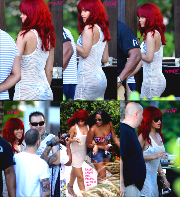 Rihanna a été repéré en profitant de la météo à Miami, en Floride, le mercredi (Juillet 13).