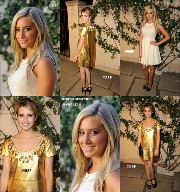 Ashley Tisdale et Emma Watson était invités à l'événement pour la marque MIU MIU était l'endroit à être le mardi soir (Juillet 19).