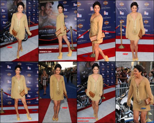 """Vanessa Hudgens a assisté à la première de """"Captain America: The First Avenger""""  à Los Angeles mardi soir (Juillet 19). Magnifique !"""