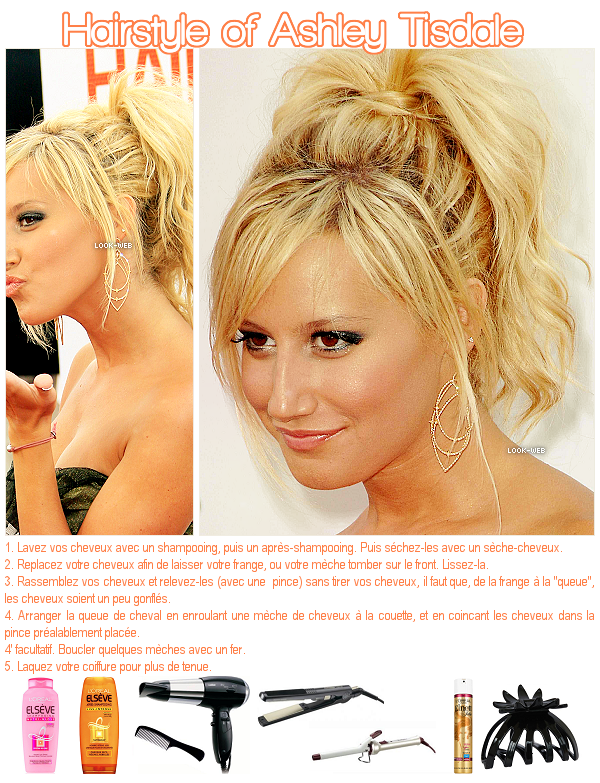 Hairstyle, Ashley Tisdale.