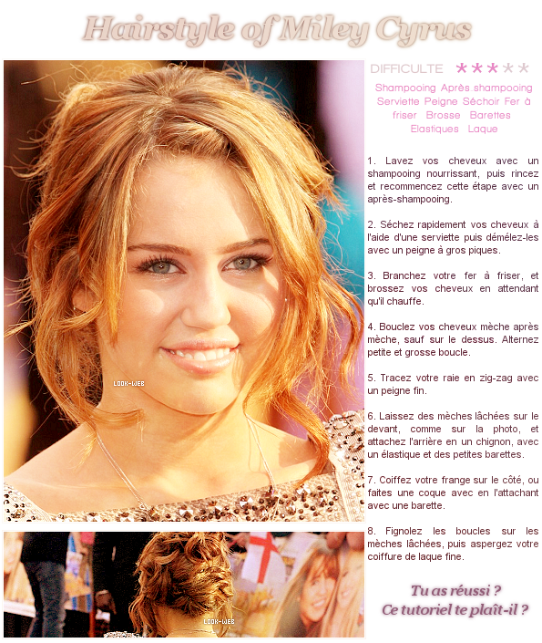 Hairstyle, Miley Cyrus.