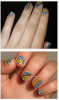 Nail art, tribal nails.