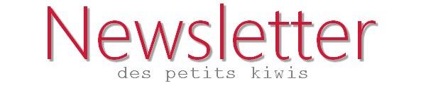 Newsletter des petits kiwis