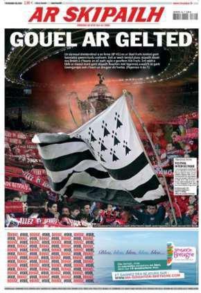 Section sur l'équipe de Bretagne de football