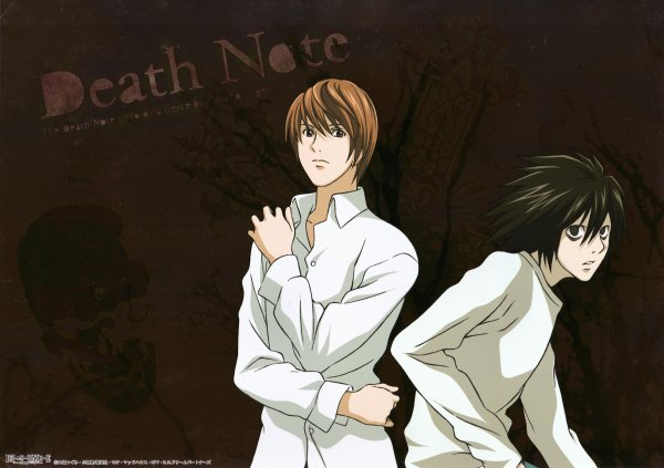 Quelques images de L et Light ( Death note )
