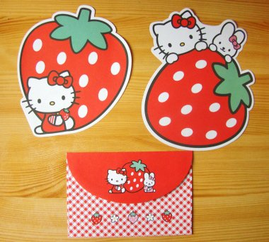 Letter Set HK Collection Strawberry by Sanrio
