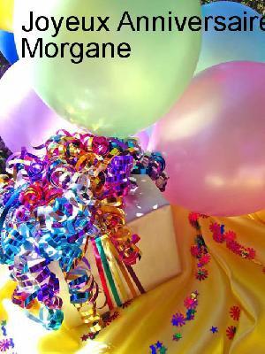 mon anniversaire avec des photos joyeux anniversaire Morgane