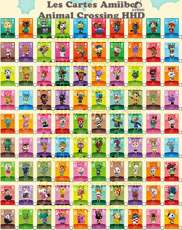 Les cartes Amiibo spécial Animal Crossing