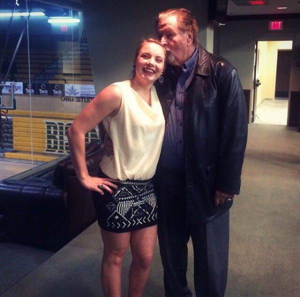 Blandine et son entraîneur Américain