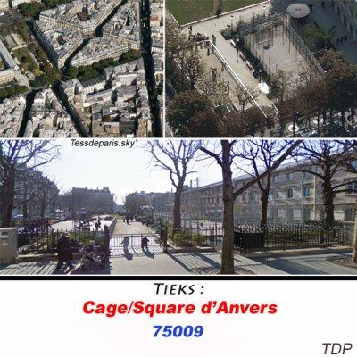 La cage/square d'Anvers