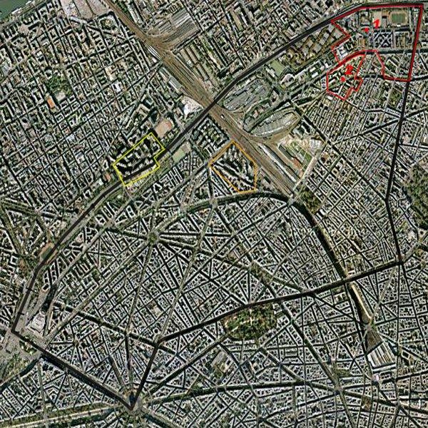 Carte des cités/quartiers du 17e Arrondissement