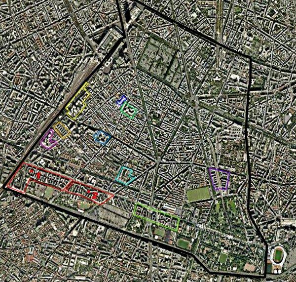 Carte des cités/quartiers du 14e Arrondissement