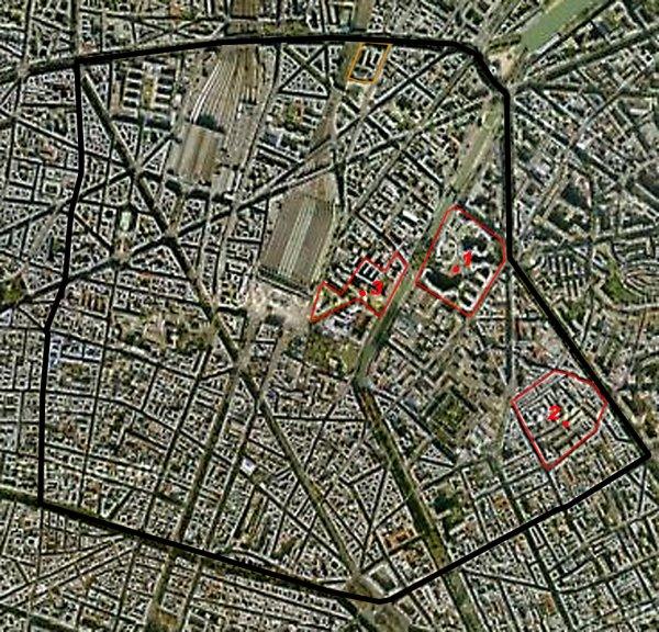 Carte des cités/quartiers du 10e Arrondissement