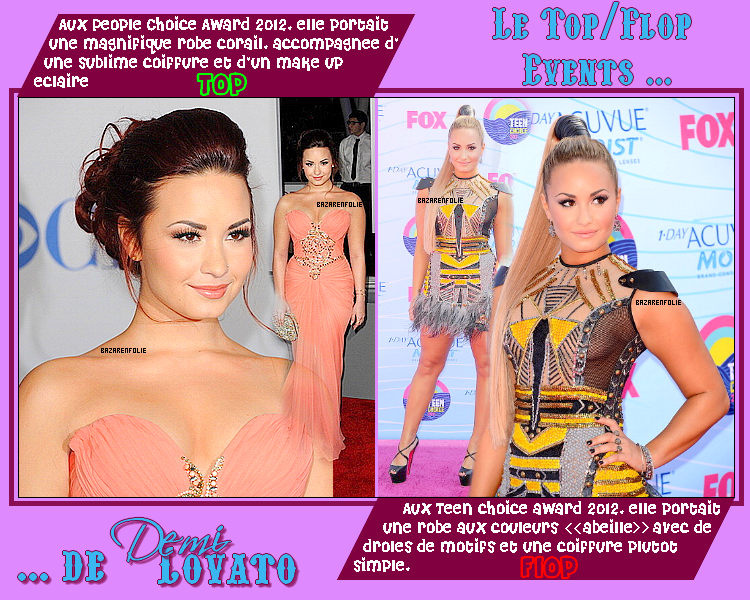 Top/Flop Events de Demi Lovato + Shoot de Vanessa H. et Josh H.