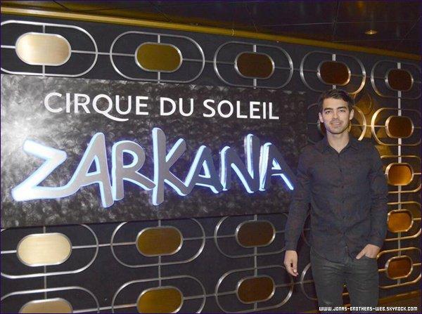 Le 23 Avril 2013 | Joe et Blanda ont été voir le spectacle de Zarkana, du Cirque Du Soleil, à Las Vegas.