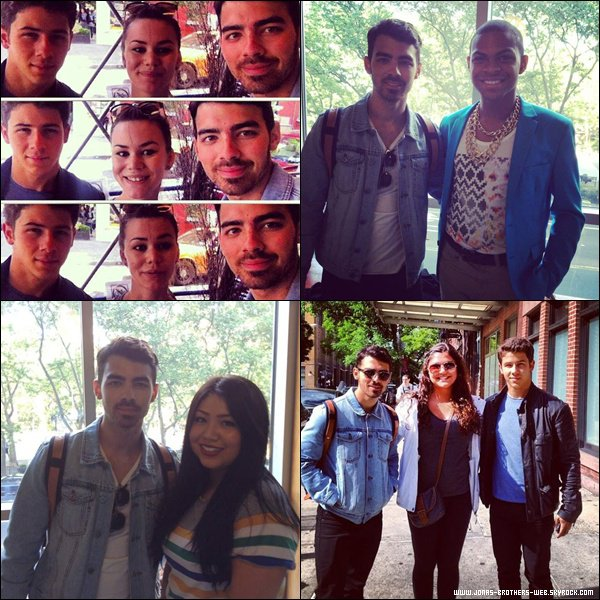 Le 26 Mai 2013 | Joe et Nick ont été vue ensemble à New York.