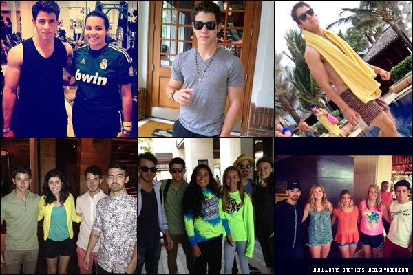 Le 27 Mai 2013 | Kevin, Joe et Nick se sont retrouvé au Bahamas.