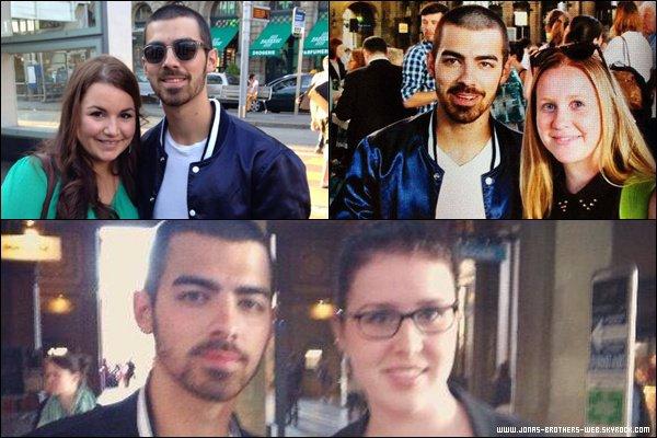 Le 06 Juin 2013 |  Joe et des fans à Zurich.