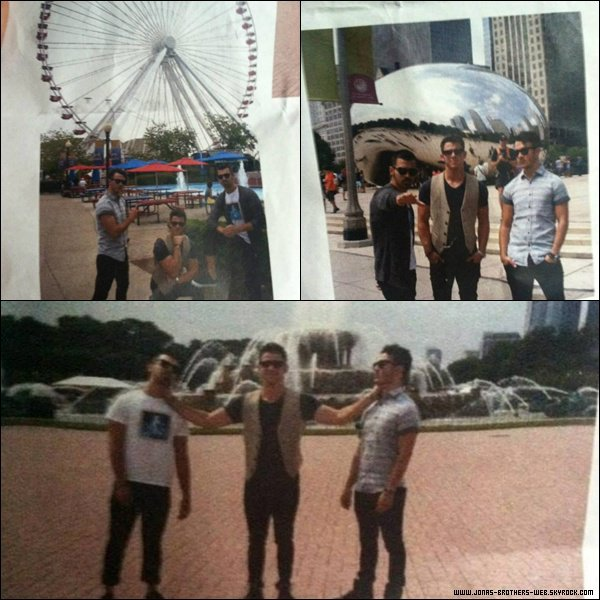 Le 07 Juillet 2013 | Les Jonas Brothers dans la ville de Chicago.