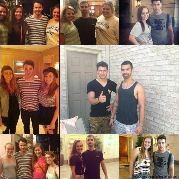 Le 15 Juillet 2013   Les Jonas ont rencontré leur fans à Cleveland.
