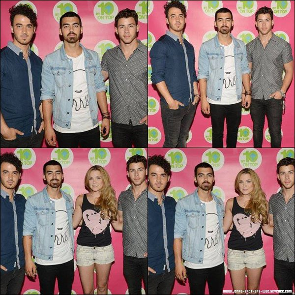 Le 26 Juillet 2013 | Les Jonas Brothers chantant en acoustique à B104.