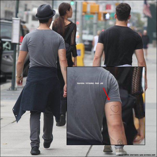 Le 02 Septembre 2013 | Joe, Nick et Blanda ont été prit en photo dans New York.