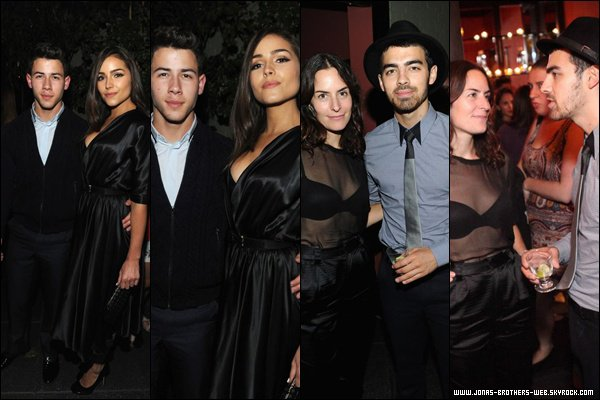 Le 12 Septembre 2013 | Les Jonas, Danielle et Olivia sont allé au NYMag x The Cut.