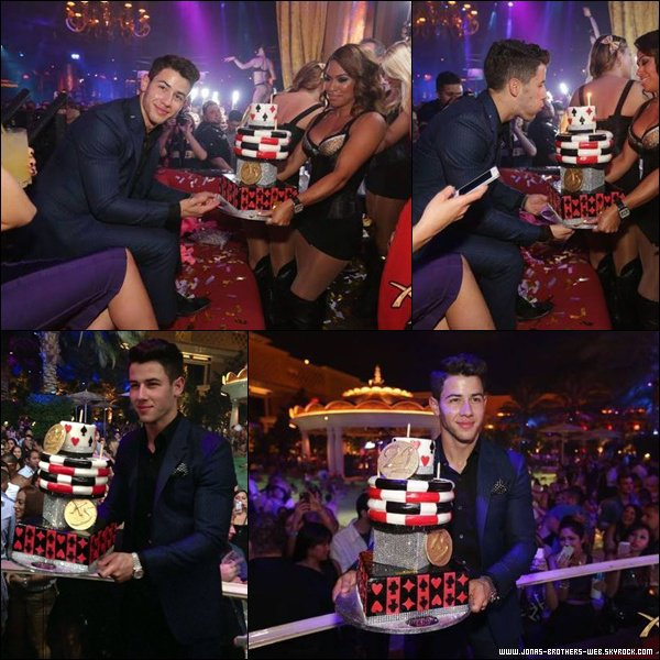 Le 15 Septembre 2013 | Nick Jonas 21st Birthday Party au XS Nightclub.
