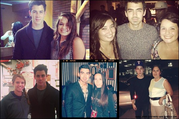 Photo | Joe et Nick ont posé avec des fans.