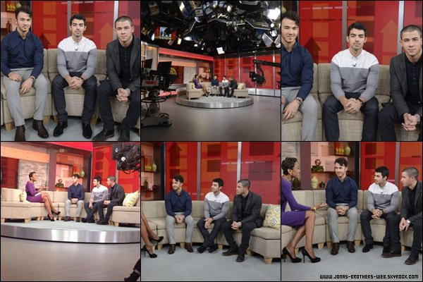 Le 30 Octobre 2013   Les Jonas Brothers sont allé à Good Morning America ensemble.
