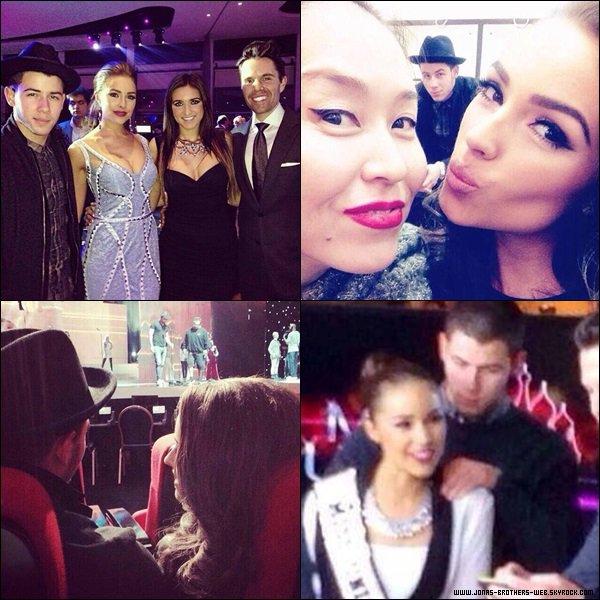 Le 05 Novembre 2013 | Nick et Olivia au répétition de Miss Univers 2013 en Russie.