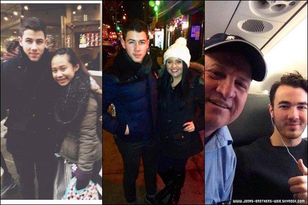 Photos | Kevin et Nick ont posé avec des fans.