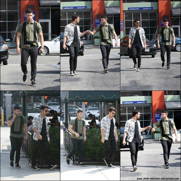 Le 06 Mars 2014 | Joe et Nick ont déjeuner ensemble à L.A.